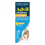 Advil Childrens Pain & Fever Suspension 2-12 Years 100ml