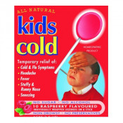 All Natural Kids Cold Raspberry 10 Pack