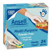 Ansell Handy Fresh Powder Free Disposable Gloves 24 Pack