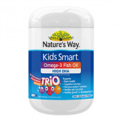 Natures Way Kids Smart Omega 3 Fish Oil High DHA Trio Flavour 180 Capsules