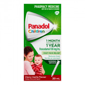 Panadol Childrens 1 Month-1 Year Colour Free with Dosing Device 20ml
