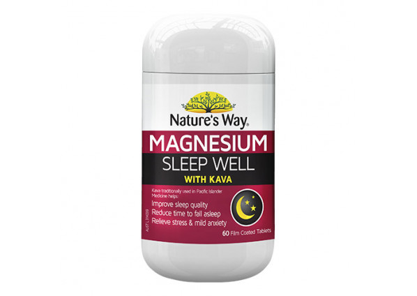 Natures Way Magnesium Sleep Well with Kava 60 Tablets