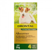 Drontal Allwormer Small Dogs & Puppies White 4 Tablets
