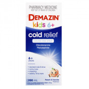 Demazin Cold Relief Syrup Colour Free 200ml