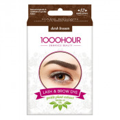 1000 Hour Eyelash & Brow Plant Based Dye Kit Dark Brown