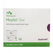 Mepitel One Soft Silicone Wound Contact Layer 289170 6cm x 7cm 5 Pack