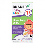 Brauer Baby & Kids Ultra Pure DHA 60 Soft Gels (Exp: June 2021, no refunds or exchanges)