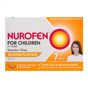Nurofen for Children Chewable Capsules Orange 12 Pack