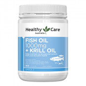 Healthy Care Fish Oil 1000mg + Krill Oil 400 Capsules
