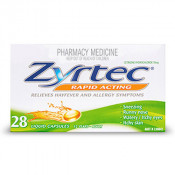 Zyrtec Rapid Acting 10mg 28 Liquid Capsules