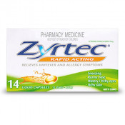 Zyrtec Rapid Acting 10mg 14 Liquid Capsules
