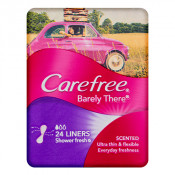 Carefree Barely There Liners Shower Fresh Shower Fresh 24 Pack