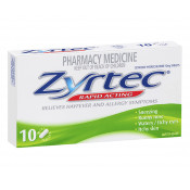 Zyrtec Rapid Acting 10mg 10 Mini Tablets