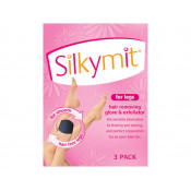 Silkymit for Legs Hair Removing Glove & Exfoliator 3 Pack
