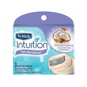 Schick Intuition Pure Nourishment Razor Refill Cartridges 3 Pack