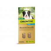 Drontal Allwormer Chewable Dogs 10kg 2 Chews