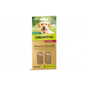 Drontal Allwormer Chewable Large Dogs 35kg 2 Chews