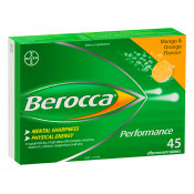 Berocca Performance Mango & Orange 45 Effervescent Tablets (Exp: June 2021, no refunds or exchanges)