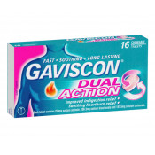 Gaviscon Dual Action Peppermint 16 Chewable Tablets
