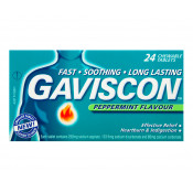Gaviscon Peppermint 24 Chewable Tablets