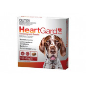 Heartgard Plus Chewables Large Dog 23-45kg Brown 6 Tablets
