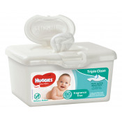 Huggies Baby Wipes Unscented Tub 80 Pack