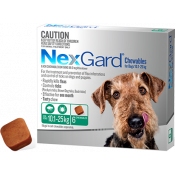 Nexgard Chewables For Dogs 10.1-25kg 6 Pack